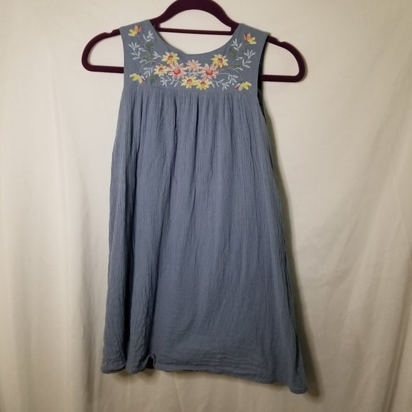Gap Kids Jumper with Floral Embroidery Girls L